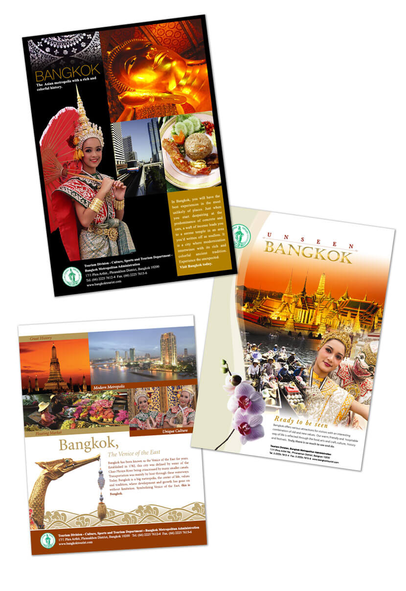 Print Design - Bangkok Tourism Authority of Thailand