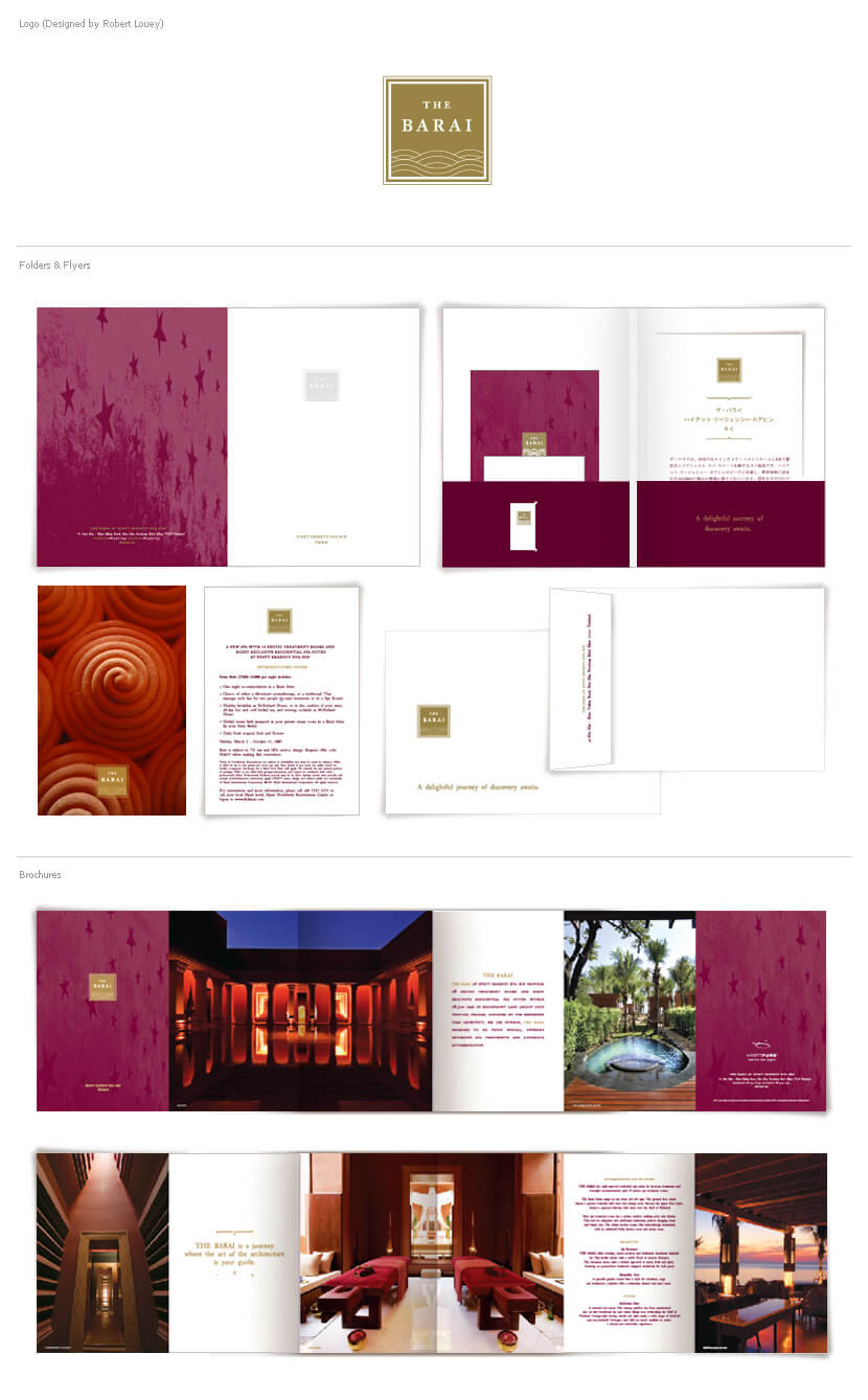 Print Design - The Barai, Hyatt Regency Hua Hin