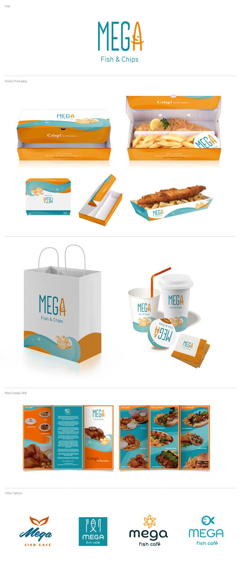 Branding & Identity - Mega Fish