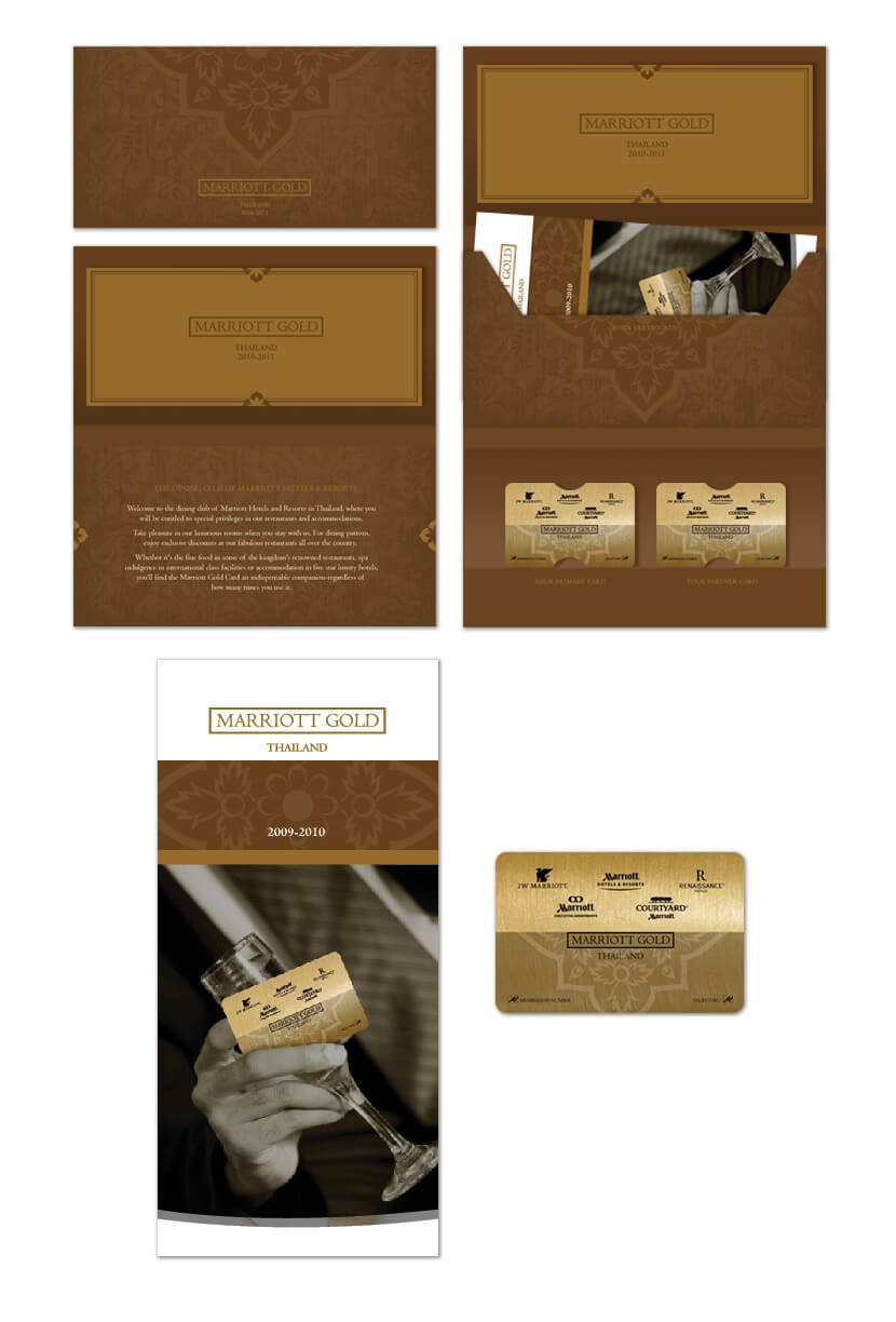 Print Design - Marriott Gold Card