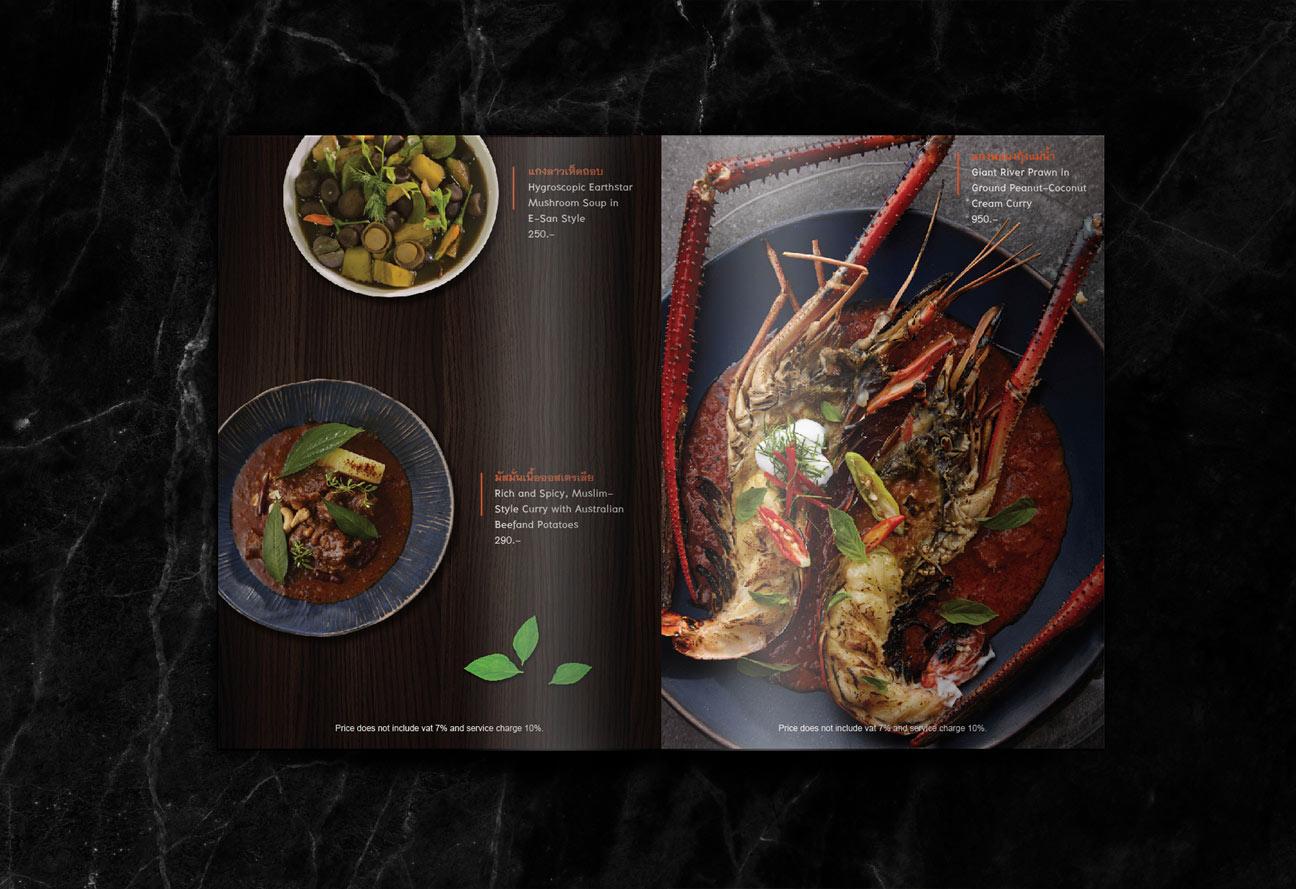 chilli the restaurant menu design print design bangkok