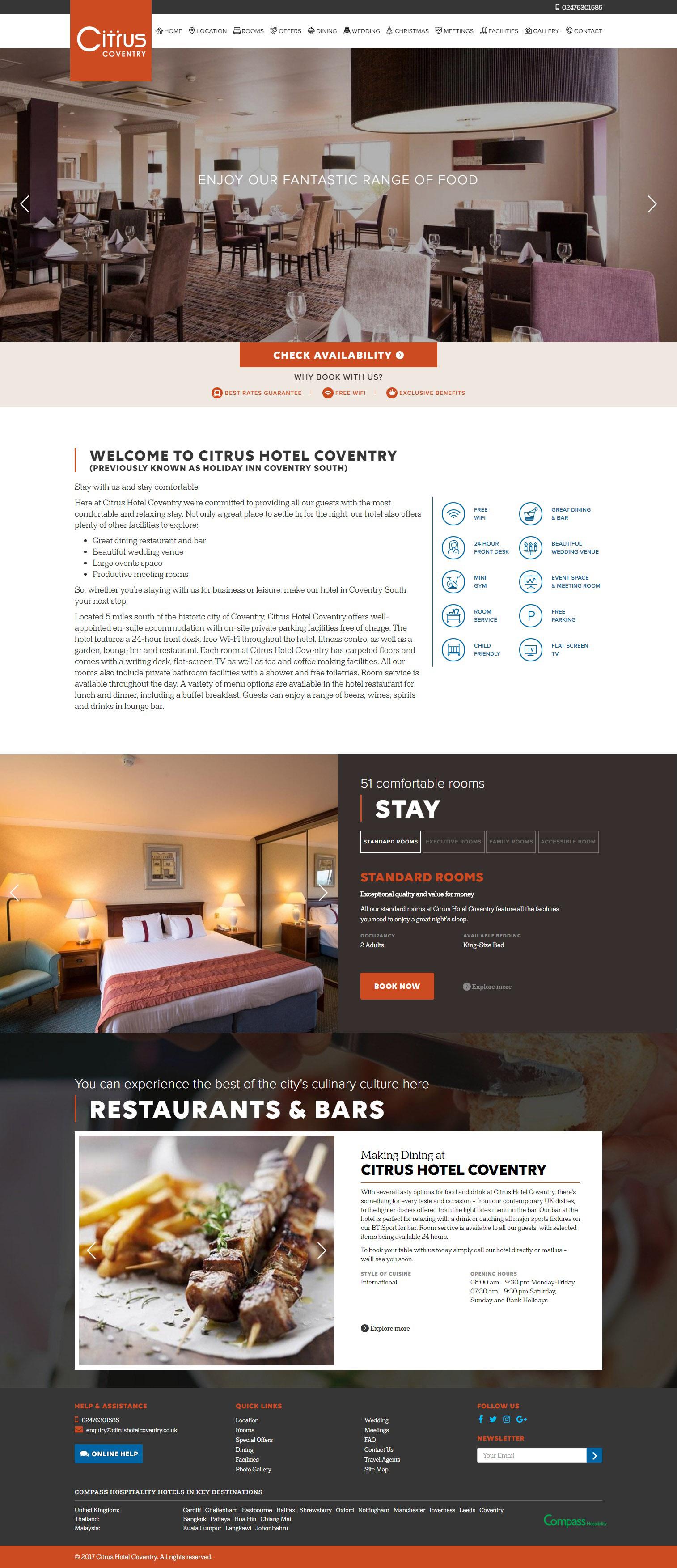 Responsive Hotel Webdesign