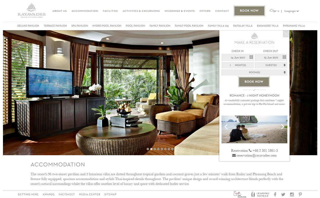 Rayavadee - Responsive Bangkok Web design