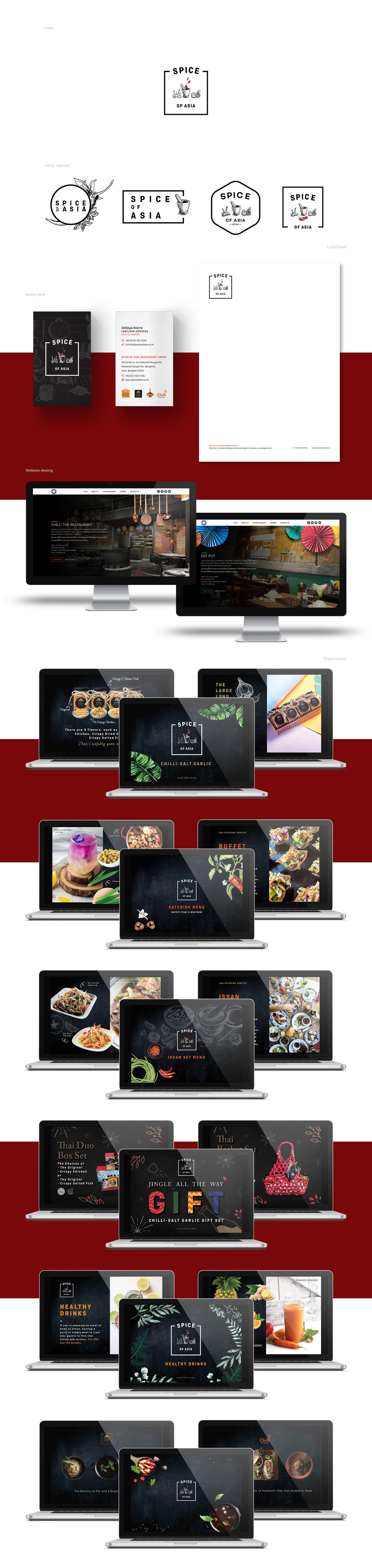 Logo and Website Design Restuarant Group